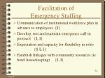facilitation of emergency staffing1
