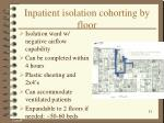 inpatient isolation cohorting by floor