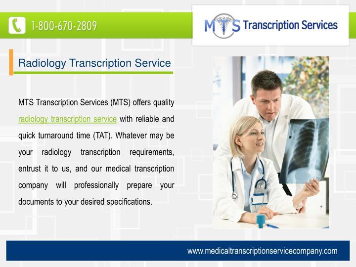 Radiology Transcription Service
