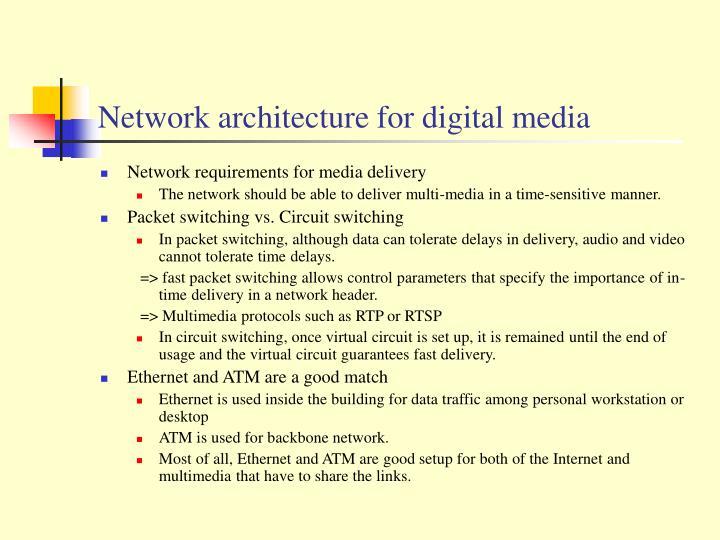 Network architecture for digital media