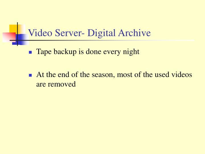 Video Server- Digital Archive