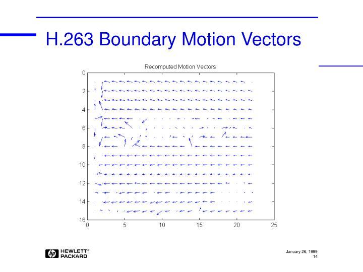 H.263 Boundary Motion Vectors