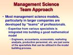 management science team approach