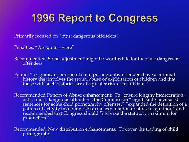 1996 Report to Congress