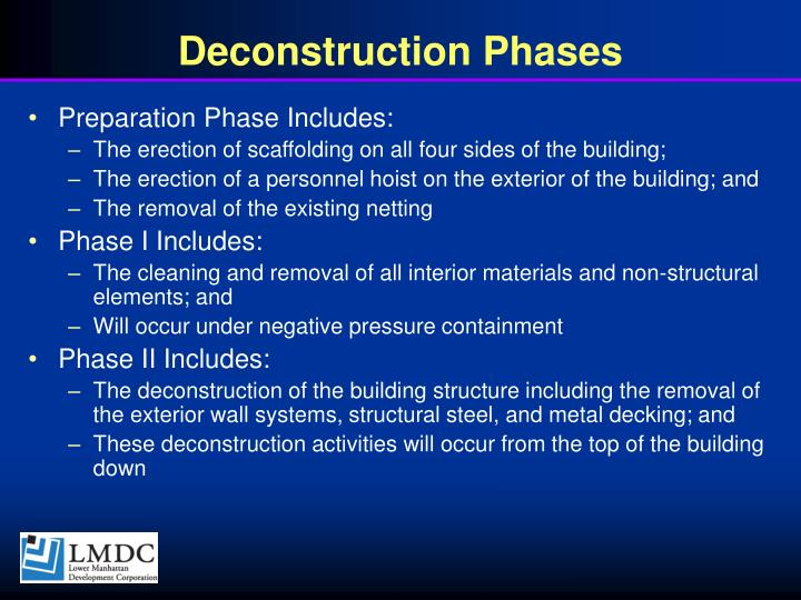 Deconstruction Phases
