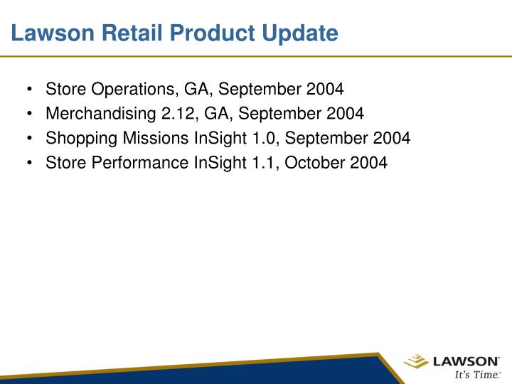 Lawson Retail Product Update