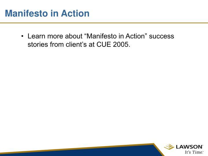 Manifesto in Action