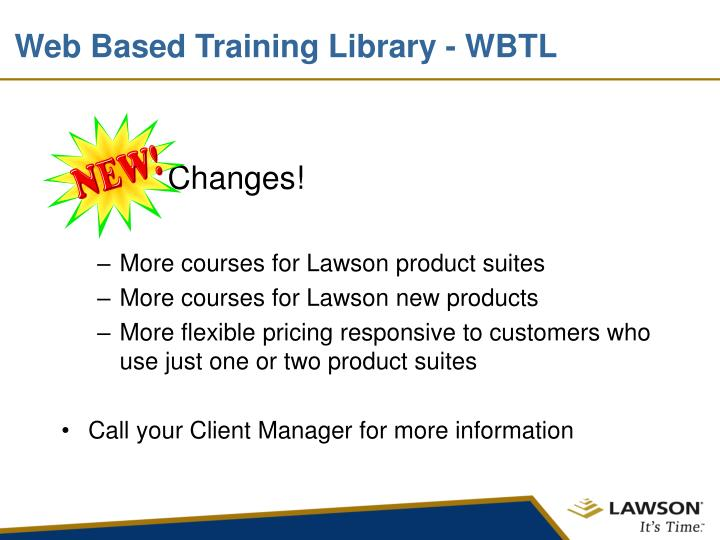 Web Based Training Library - WBTL