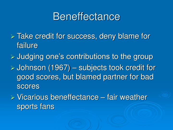 Beneffectance