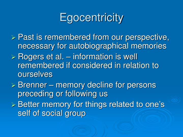Egocentricity