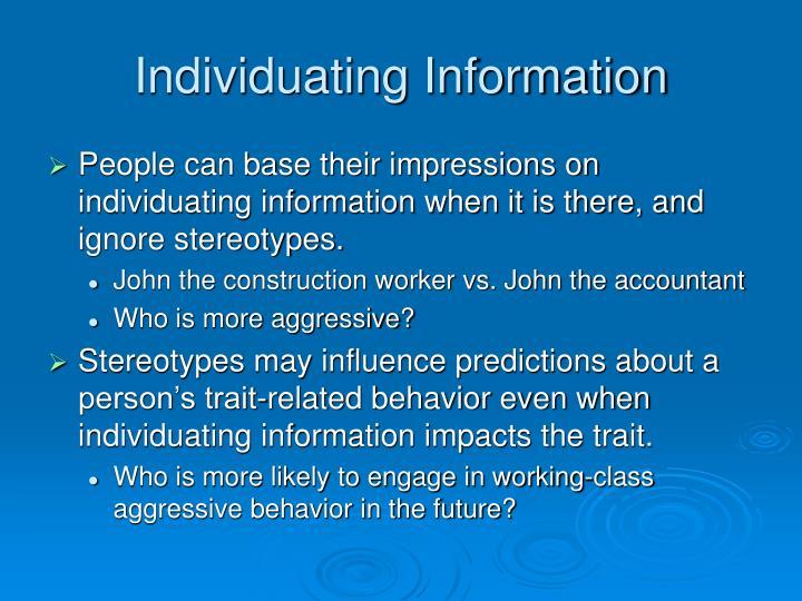 Individuating Information