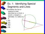 ex 1 identifying special segments and lines