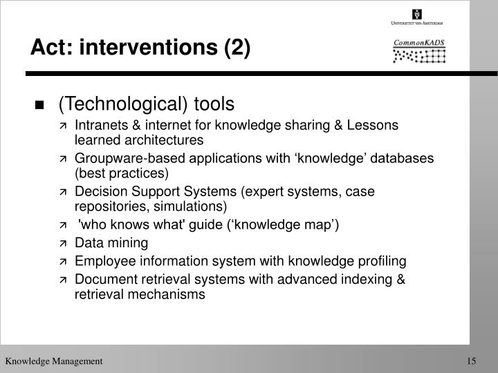 Act: interventions (2)