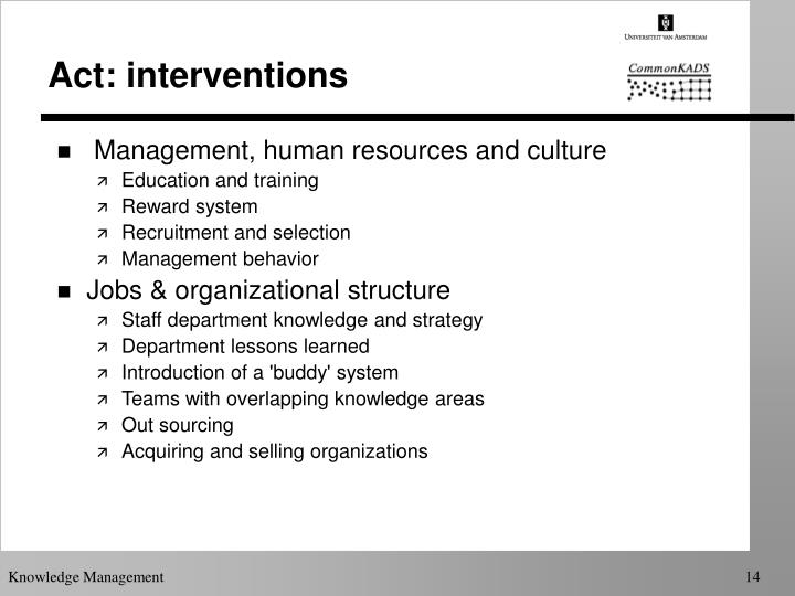 Act: interventions