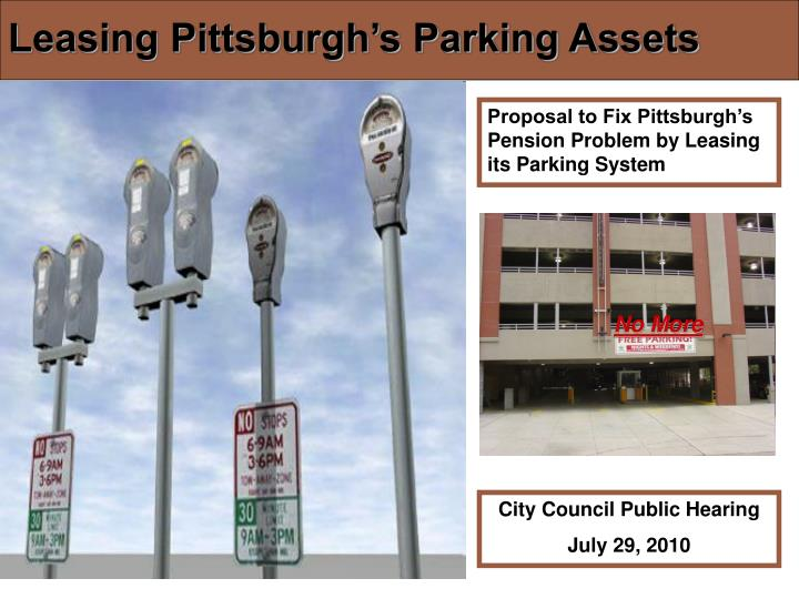 leasing pittsburgh s parking assets n.