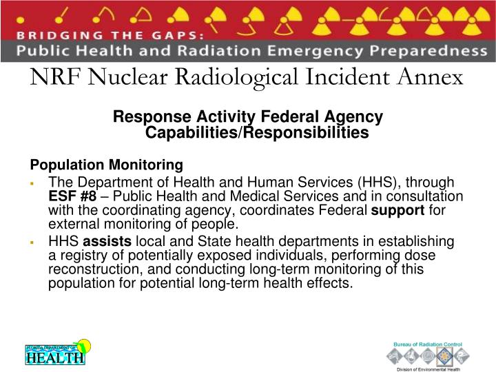 NRF Nuclear Radiological Incident Annex
