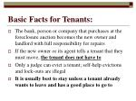 basic facts for tenants