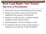 basic legal rights your tenancy survives a foreclosure