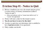 eviction step 1 notice to quit