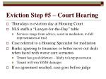 eviction step 5 court hearing