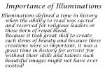 importance of illuminations