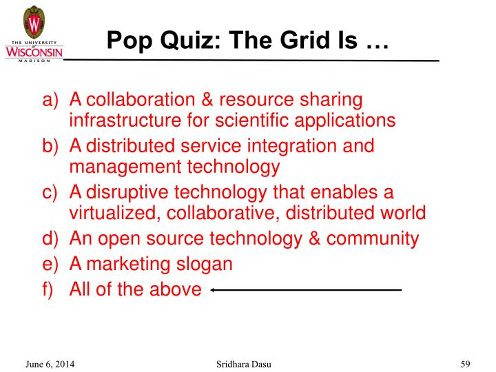 Pop Quiz: The Grid Is …