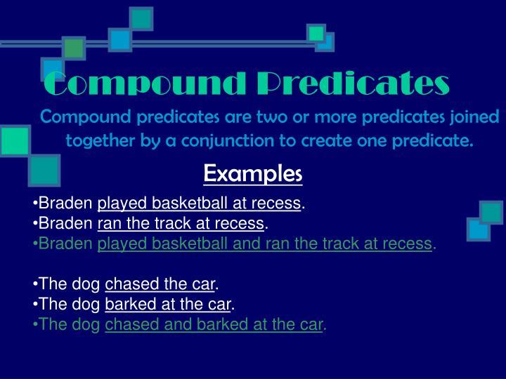 Compound Predicates