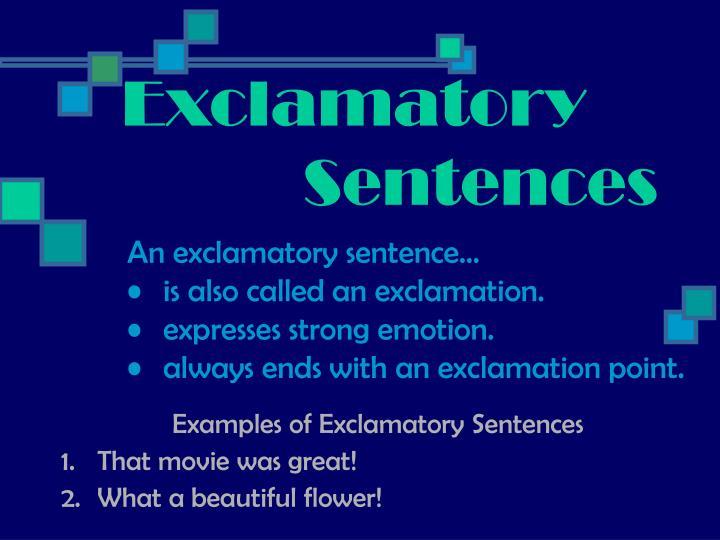 Exclamatory