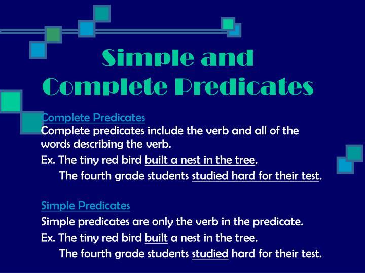 Complete Predicates