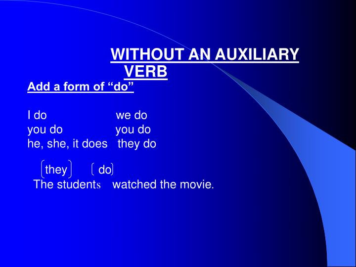 """Add a form of """"do"""""""