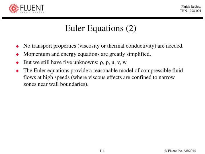 Euler Equations (2)