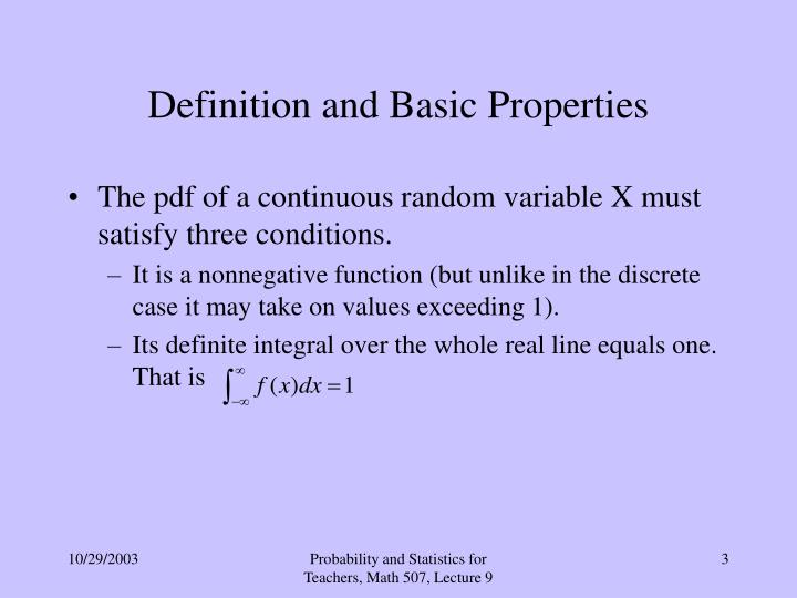 Definition and basic properties1