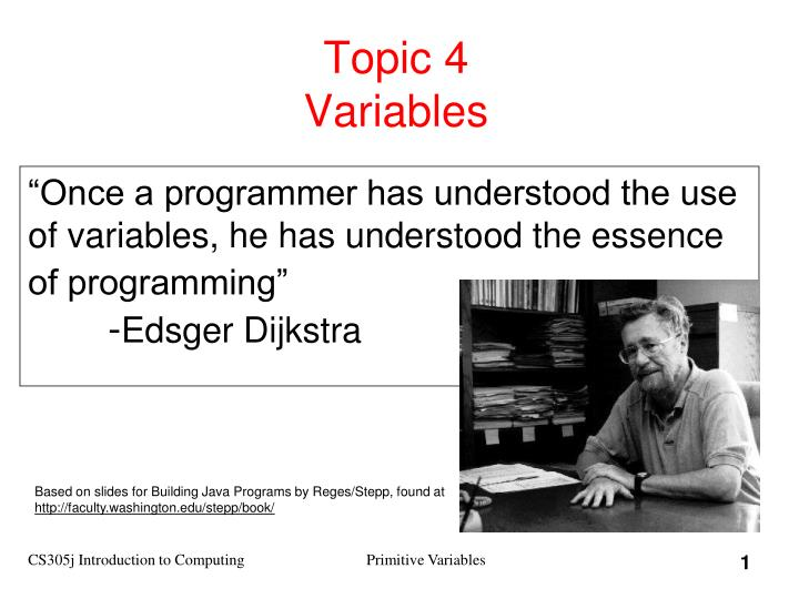 topic 4 variables