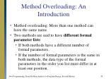 method overloading an introduction