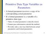 primitive data type variables as parameters