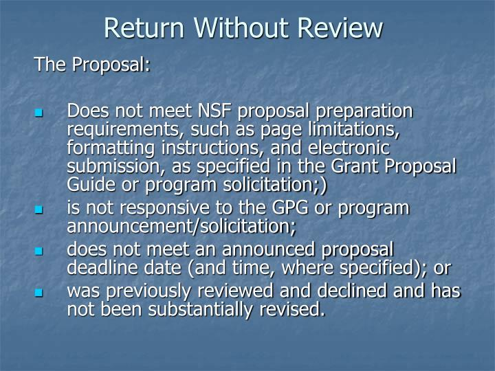 Return Without Review