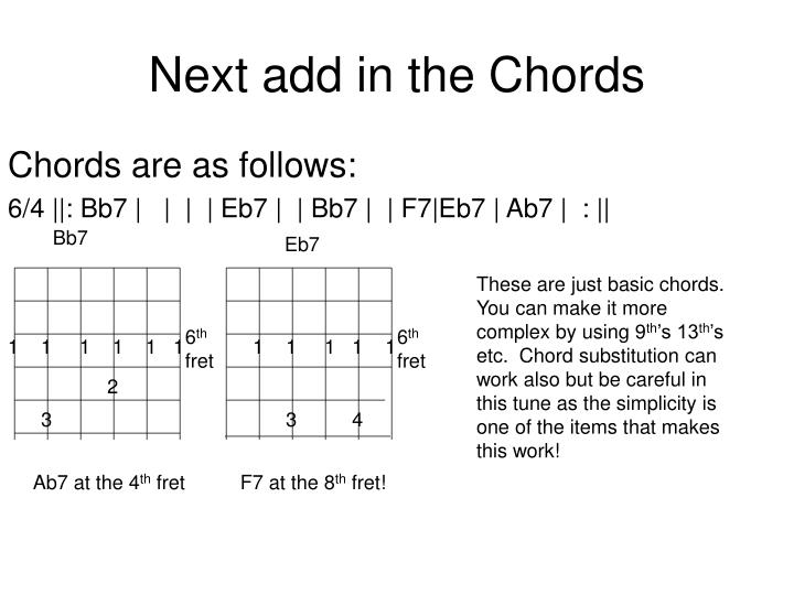 Next add in the Chords
