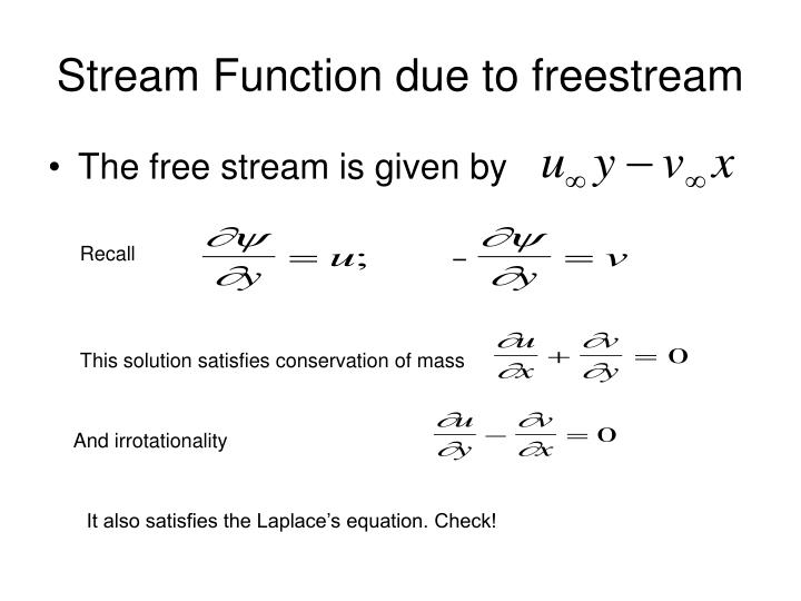 Stream Function due to freestream