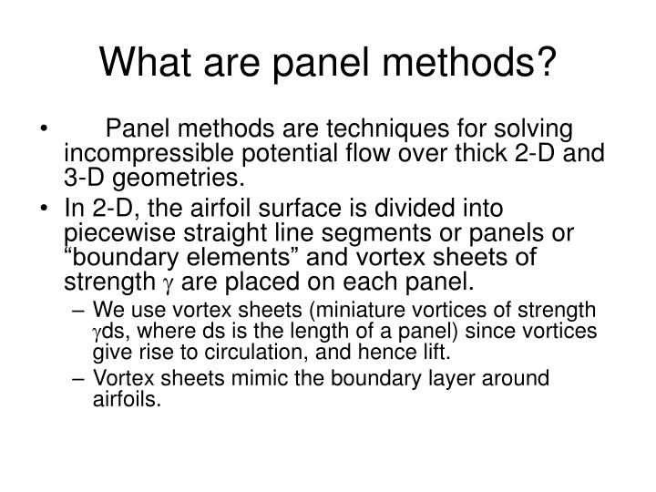 What are panel methods
