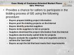 case study of customer oriented market place ge s tpn post