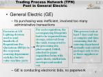 trading process network tpn post in general electric