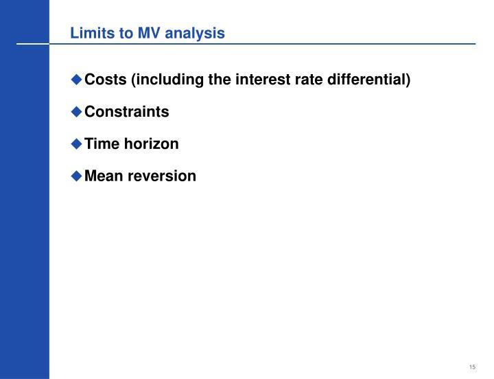 Limits to MV analysis