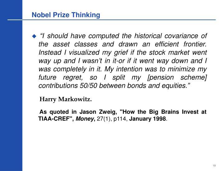 Nobel Prize Thinking