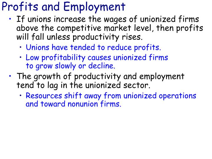 Profits and Employment