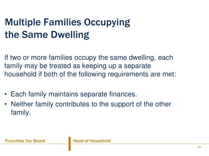 Multiple Families Occupying