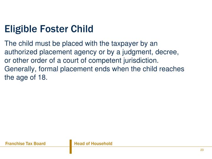 Eligible Foster Child