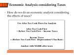 economic analysis considering taxes