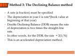 method 3 the declining balance method