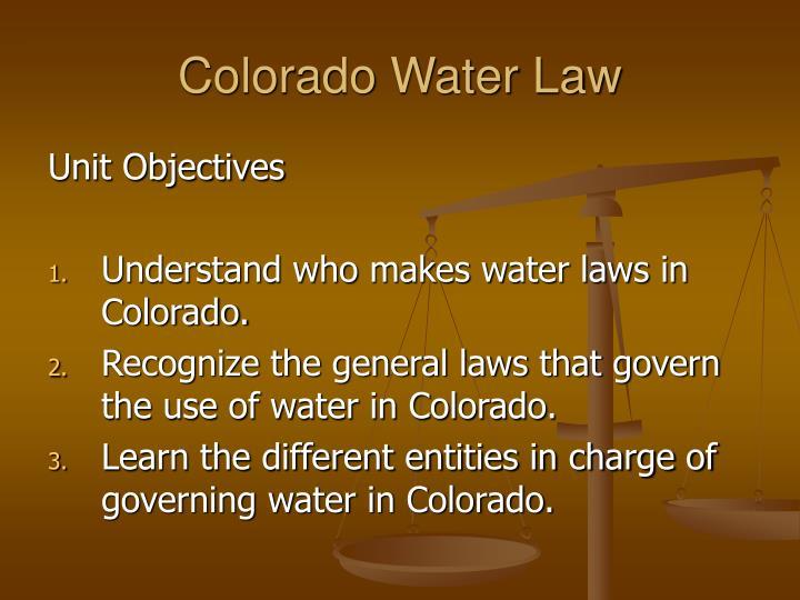 Colorado water law1