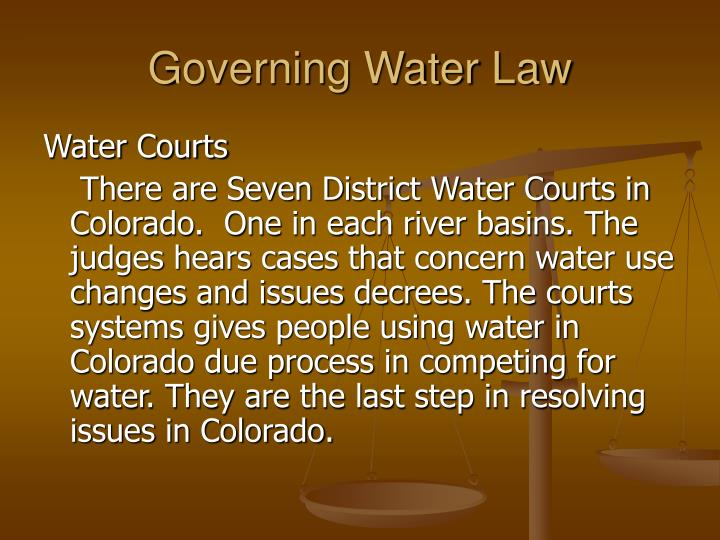 Governing Water Law